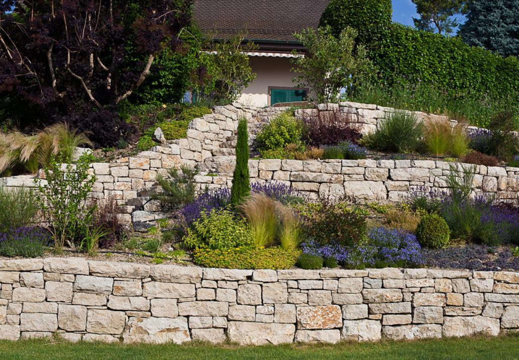 Mur de pierres de grès Jardin Pierres Grès Mur
